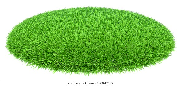 Grass arena isolated on white background, 3d rendering