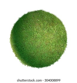 Grass ball isolated.