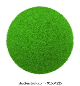 grass ball on a white background