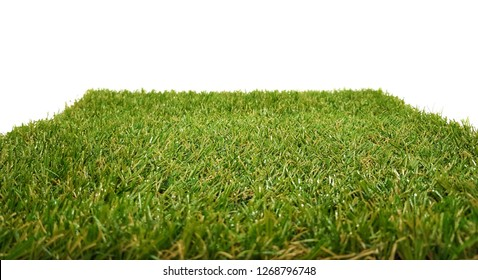 Grass carpet isolated on white background