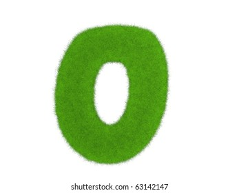Grass digit isolated on the white background