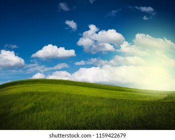 Grass field countryside and landscape background