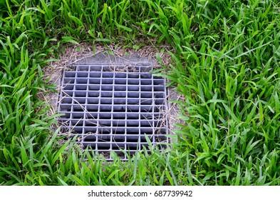 Grass field drainage
