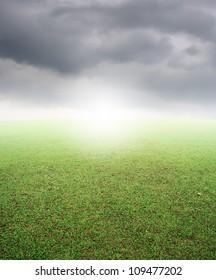 Grass Grass  fields and rainclouds