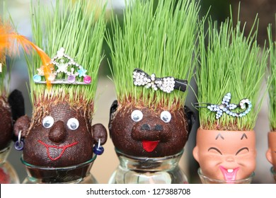 grass head doll