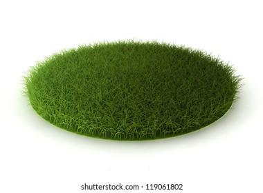 grass lawn - 3d render on white