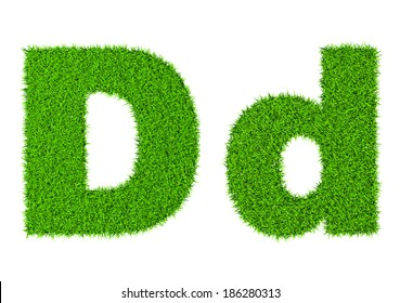 Grass letter A - ecology eco friendly concept character type