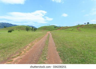 Grass mountain or bald mountain in Ranong province, Thailand