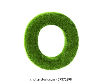 A grass o isolated on a white background