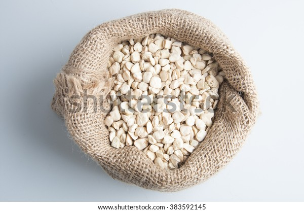 Grass peas over white background