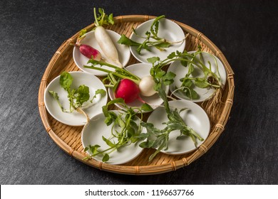 山菜粥 七草粥 Wild grass porridge Japanese food