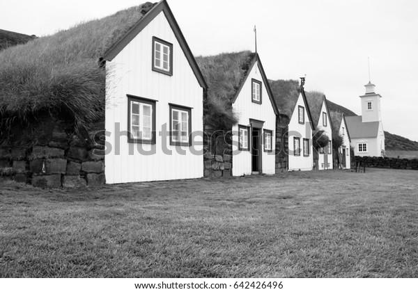 Swell Grass Roof Houses Laufas Iceland Black Stock Photo Edit Now Download Free Architecture Designs Xoliawazosbritishbridgeorg