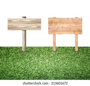 grass signs