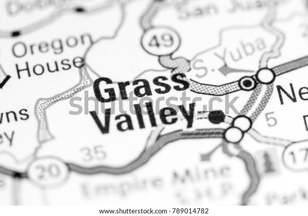 Grass Valley California Usa On Map Stock Photo (Edit Now ...