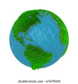 Grass World.Digitally Generated Image.
