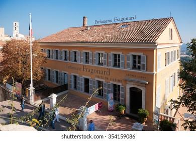 GRASSE, FRANCE - OCTOBER 31, 2014: Parfumerie Fragonard. Grasse is the world perfumes capital with the famous Fragonard perfumery.