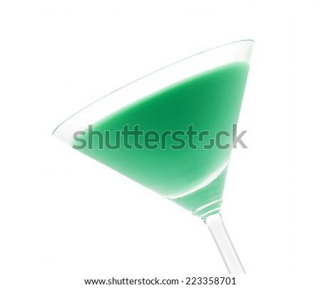 Grasshopper Cocktail That Contains Creme De Stock Photo