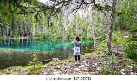 Grassi Lakes in Canmore, Alberta, Canada near Banff National Park
