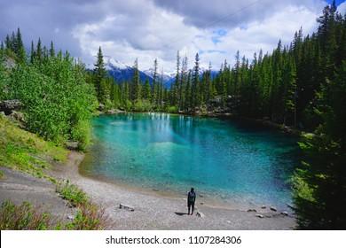 The Grassi Lakes,Canmore,Canada,Alberta