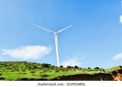 Grassland wind power generation