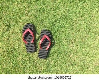 Grassroots and the sandals in summer time