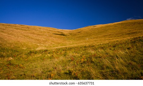 Grassy Hills and Blue Sky  in Scotland.