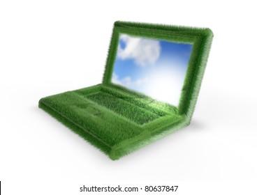 Grassy laptop