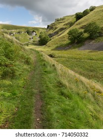 Grassy Path to Trollers Gill near Skyreholme in the Yorkshire Dales National Park
