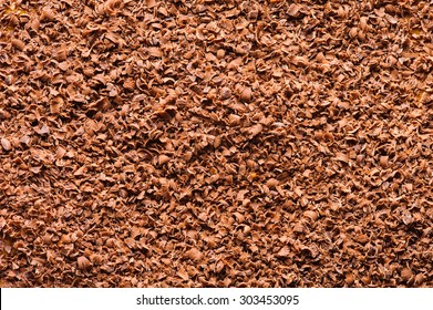 Grated chocolate background