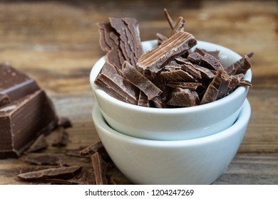 grated chocolate for a water bath