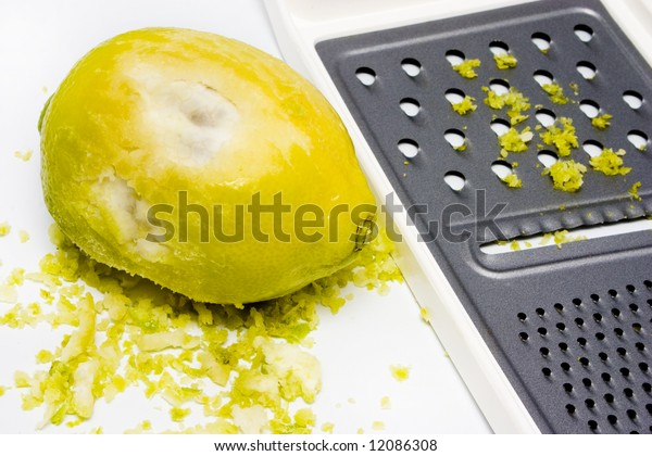 grated lemon rind with grater