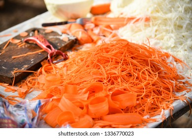 Grated vegetables as healthy food ingredients for cooking in full frame close-up background concept