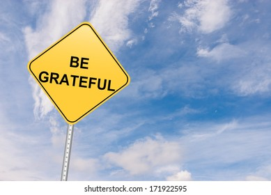 Grateful and Generosity Inspirational Road Sign