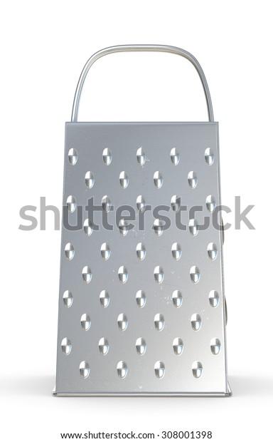 grater against white background