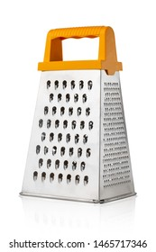 Grater for vegetables on a white background. Kitchen grater close-up.