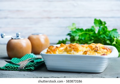 gratin with cheese