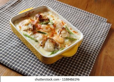 Gratin, seafood gratin