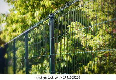 grating wire industrial fence panels, pvc metal fence panel  - Shutterstock ID 1751863268