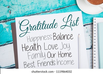 Gratitude Journal, Gratitude List