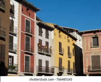 Graus village center in the Spanish Pyrenees