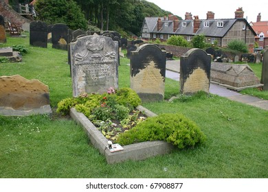 Grave of Anne Bronte in Scarborough.