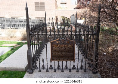 Grave of Brigham Young, President of the mormon church, at Mormon Pioneer Memorial, Downtown Salt Lake City, Utah.
