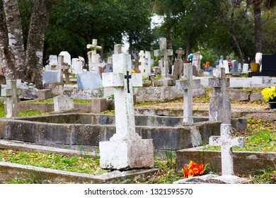 Grave Markers in the Cemetary