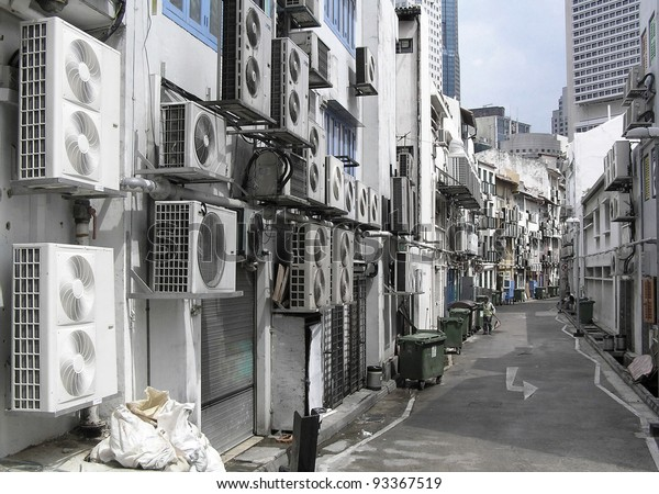 Grave needs of air conditioning in Singapore apartment block.