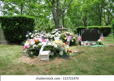 Grave Site with Flowers