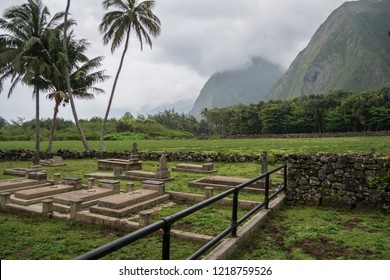 Grave yard found in the leprosy colony on Molokai, Hawaii