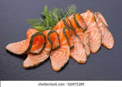Saumon gravé