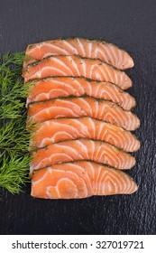 Graved salmon