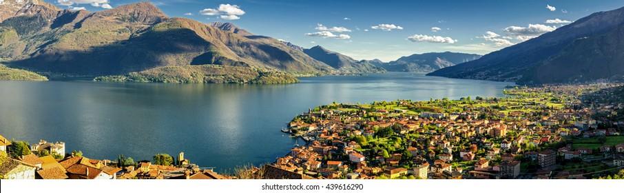 Gravedona and Lago di Como high definition panorama
