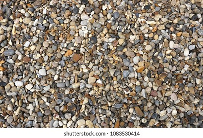 Gravel Background Texture Shot From Above